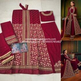 Swagat-Violet-Snow-White-5907-Designer-Party-Wedding-Wear-Heavy-Dress-Wholesaler-Real-Image