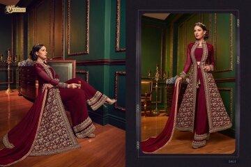 Swagat-Violet-Snow-White-5907-Designer-Party-Wedding-Wear-Heavy-Dress-Wholesaler