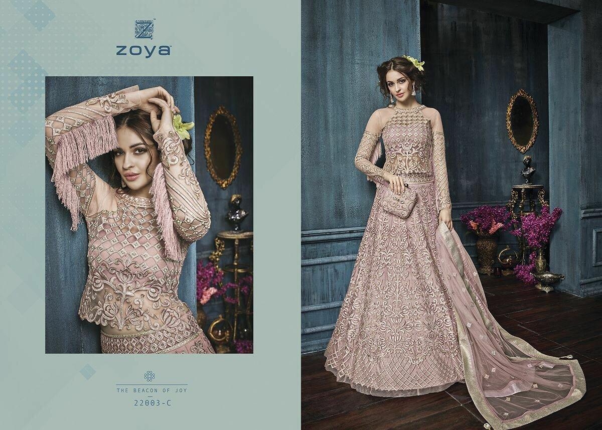 Deepmala Exports » Zoya Celebrity 22003 Pink Heavy Embroidery ...